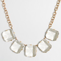 Factory crystal cube necklace