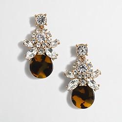 Crystal tortoise dangle earrings