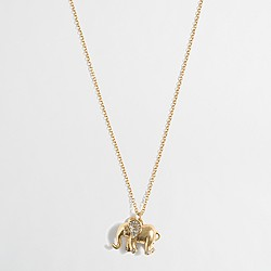 Golden elephant pendant necklace