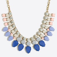 Gemstone toothed necklace
