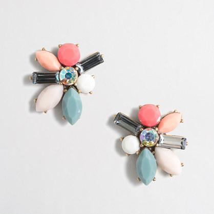 Stone blossom earrings