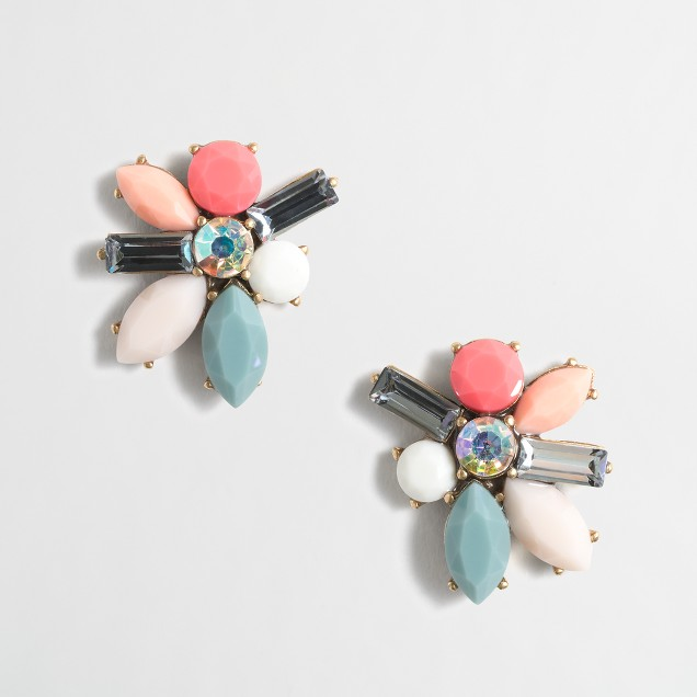 Stone blossom earrings