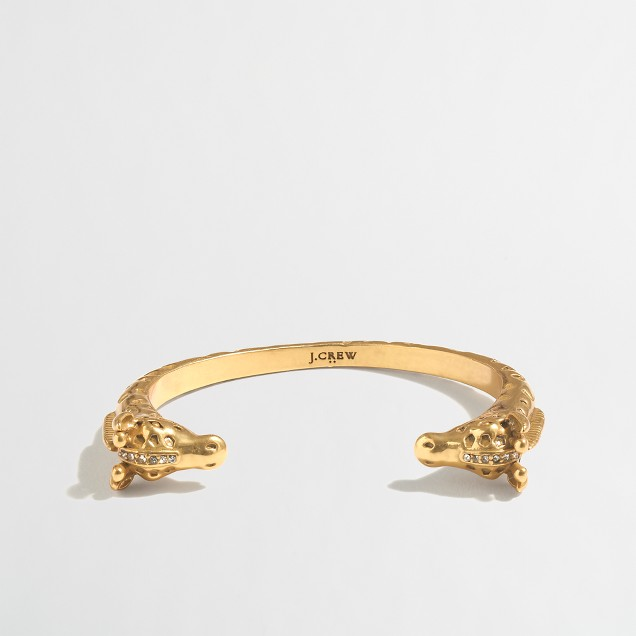 Golden giraffe cuff