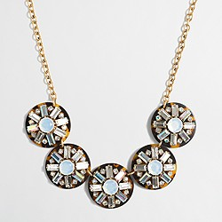 Crystal cluster tortoise necklace