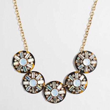 Crystal cluster tortoise necklace