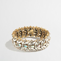 Iridescent crystal stretch bracelet