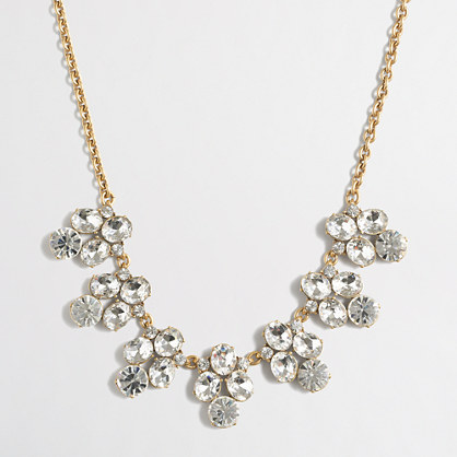 Rounded crystals necklace