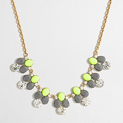 Factory rounded crystals necklace