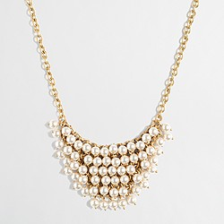 Factory embellished bib necklace