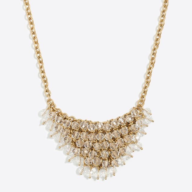 Embellished bib necklace