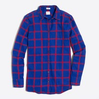 Petite flannel shirt in boy fit