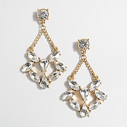 Factory mini-crystals dangle earrings