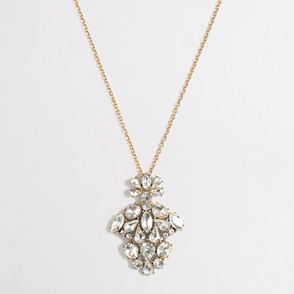 Crystal cluster pendant necklace