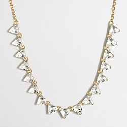 Factory crystal triangle necklace