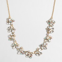 Stacked mini-crystal clusters necklace
