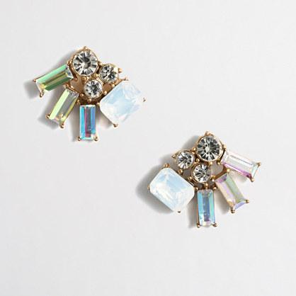 Iridescent cluster earrings