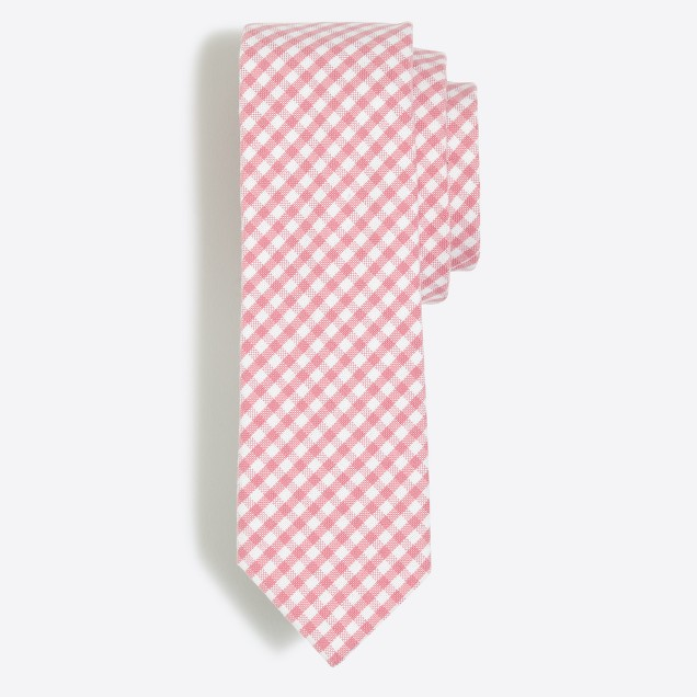 Plaid oxford tie