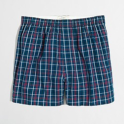 Mixed-plaid boxers