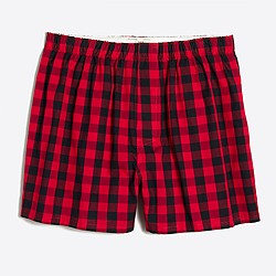 Mini buffalo check boxers