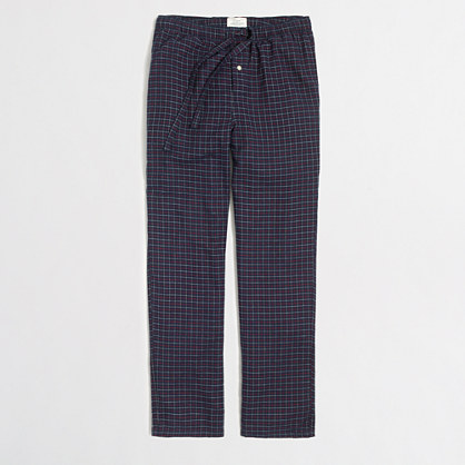 Grid pajama pants