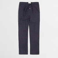 Grid pajama pants