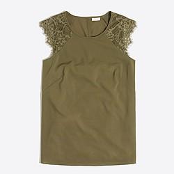 Floral lace shirt