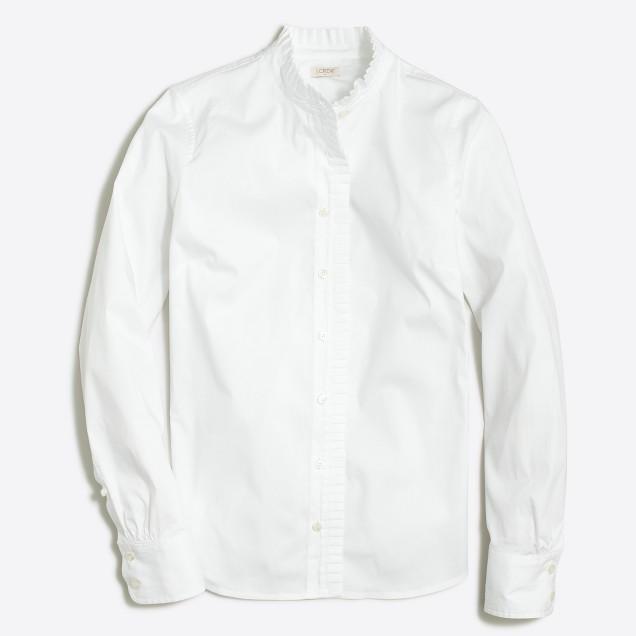 Petite ruffle shirt