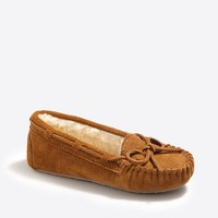 Kids' suede shearling slippers