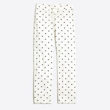 Printed knit pajama pant