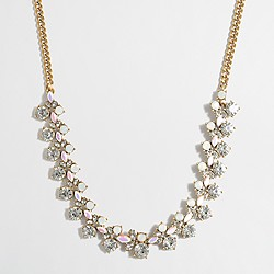 Mini-crystal clusters necklace