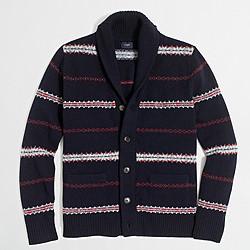 Lambswool Fair Isle cardigan sweater