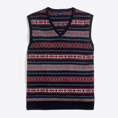 Lambswool Fair Isle sweater-vest