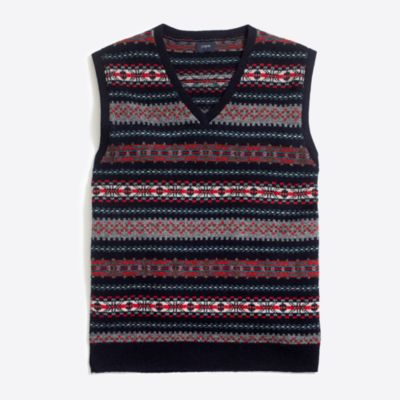 Lambswool Fair Isle sweater-vest : FactoryMen Lambswool | Factory