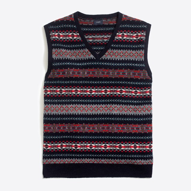 Lambswool Fair Isle sweater-vest