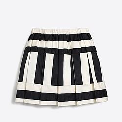 Girls' directional stripe skirt