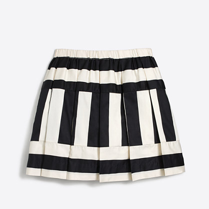 Girls' directional stripe skirt