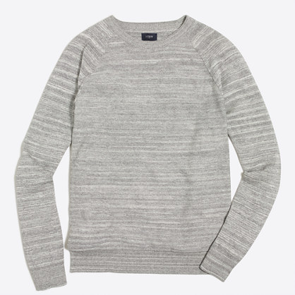 Space-dyed raglan crewneck sweater