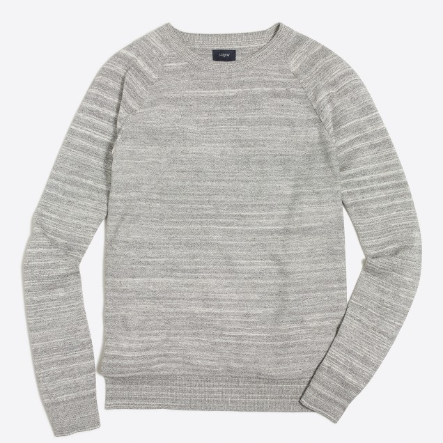 Space-dyed raglan crewneck sweater