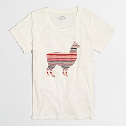 Llama in sweater collector T-shirt