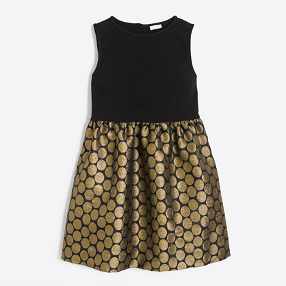 Girls' metallic dot dress