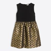 Girls' metallic dot dress
