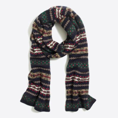 Fair Isle scarf factorymen accessories c