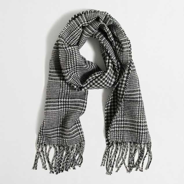 Double-sided plaid scarf