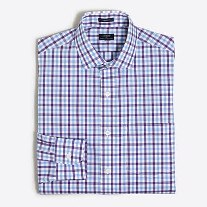 Multi-check flex wrinkle-free Voyager dress shirt