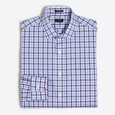 Multi-check flex wrinkle-free Voyager dress shirt factorymen dress shirts c