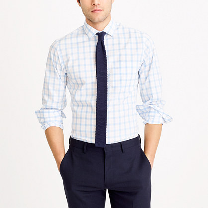Multi-check flex wrinkle-free Voyager dress shirt
