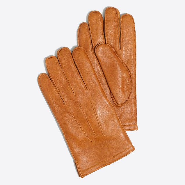 Flannel-lined gloves