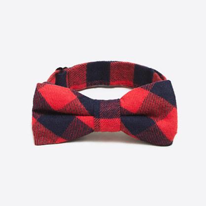 Boys' flannel bow tie