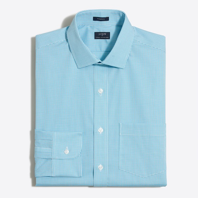 Tattersall flex wrinkle-free Voyager dress shirt