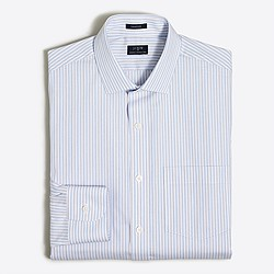Striped flex wrinkle-free Voyager dress shirt in end-on-end cotton